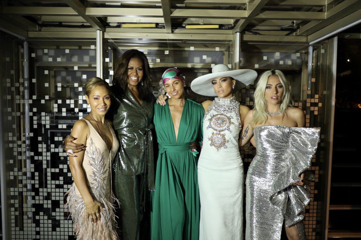 michelle obama,alicia keys grammys