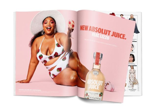 lizzo absolut vodka